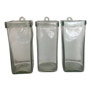 Arhaus Recycled Glass Hanging Vases - Set of 3