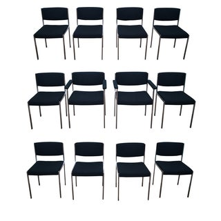 Harvey Probber MCM Chrome Dining Chairs - 12
