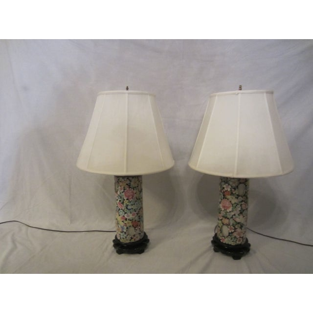 Asian Inspired Lamps With Night Light - A Pair - Image 3 of 8