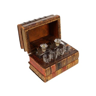French Antique Leather Book Tantalus
