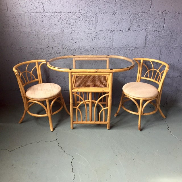 Kitchen Table And Chairs Ireland: Vintage 1980s Bamboo Dining Set