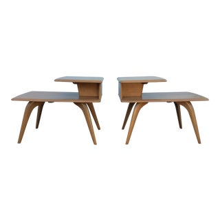Heywood Wakefield Champagne End Tables - a Pair