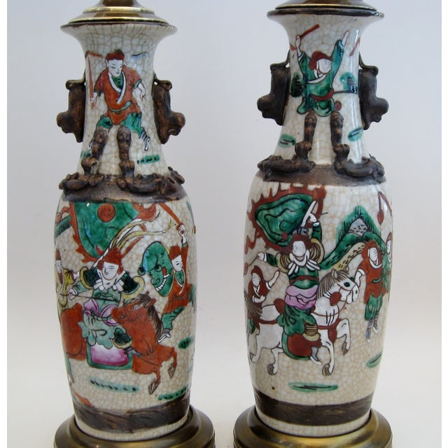 Chinese Porcelain Lamps, A Pair - Image 5 of 5