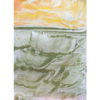 """""""Peach Sky"""" Monotype Ink on Mulberry Paper"""