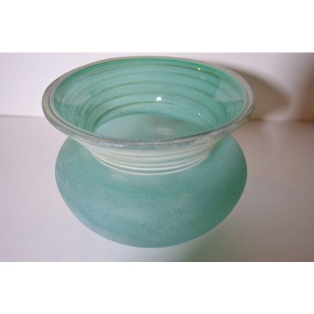 Image of Signed Seguso Scavo Glass Vase