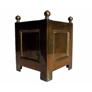 Neoclassical Style Brass Planter