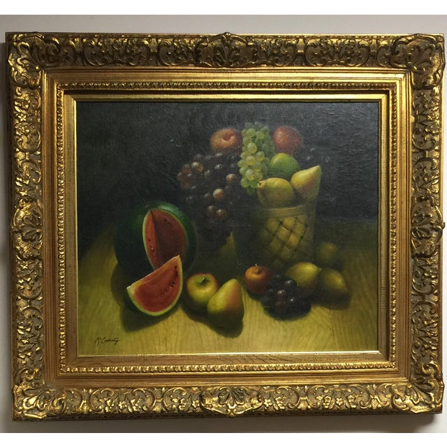 Oil on Canvas Still Life Painting - Image 2 of 4