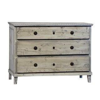 Vintage Painted White 3 Drawer Dresser