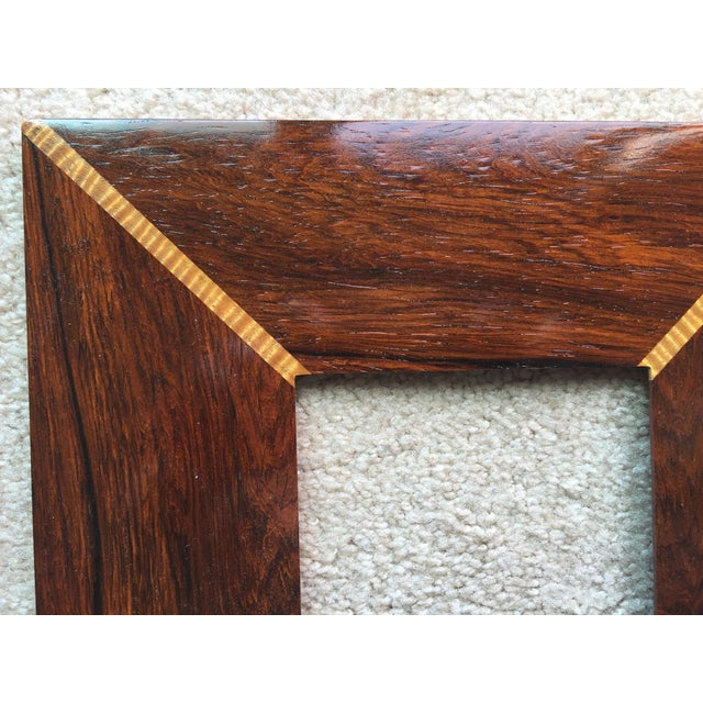 Custom Handmade Exotic Wood Inlaid Frame - Image 5 of 5