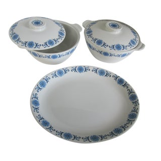 Blue & White Alfred Meakin Ironstones - Set of 3