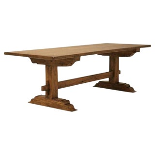 Italian Style Farm Table Made From Old European Lumber