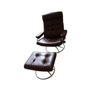 Original Ekornes Lounge Chair & Ottoman