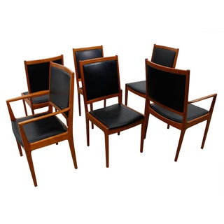 Rare Kofod Larsen Tall & Wide Danish Modern Teak Dining Chairs - Set of 6