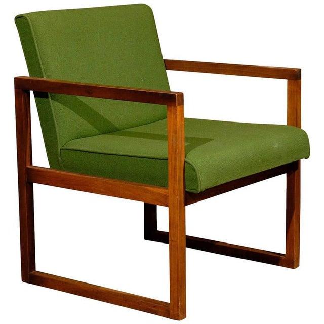 Mid-Century Modern Teak Arm Chair - Image 1 of 2