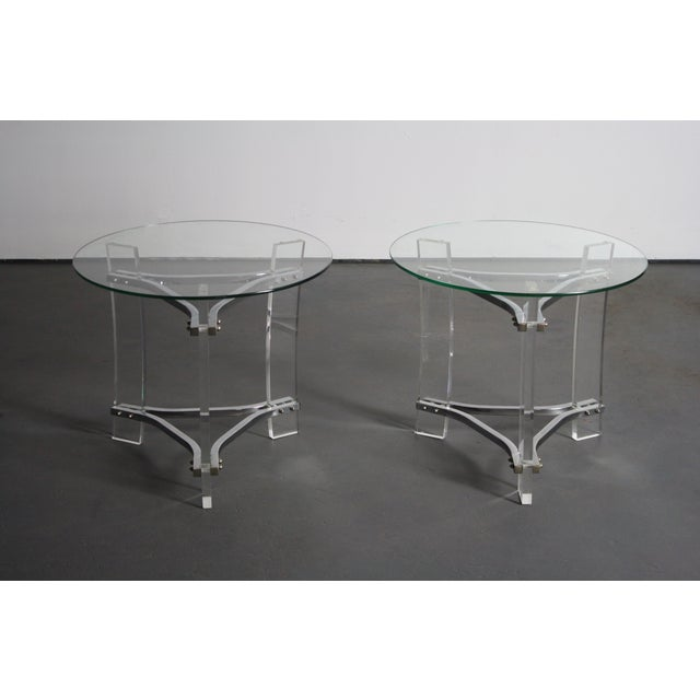Charles Hollis Jones Lucite End Tables - Pair - Image 3 of 8