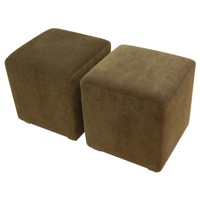 Mitchell Gold + Bob William Cube Ottomans - Image 1 of 5