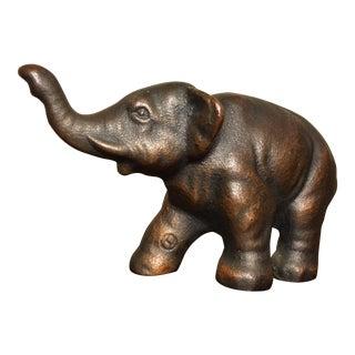 Small Antique Iron Elephant Statue