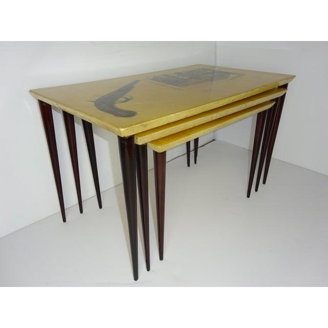Aldo Tura Parchment Gigogne Tables - Set of 3 - Image 5 of 8