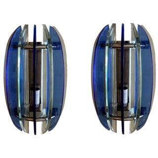 1970s Fontana Arte Sconces - A pair