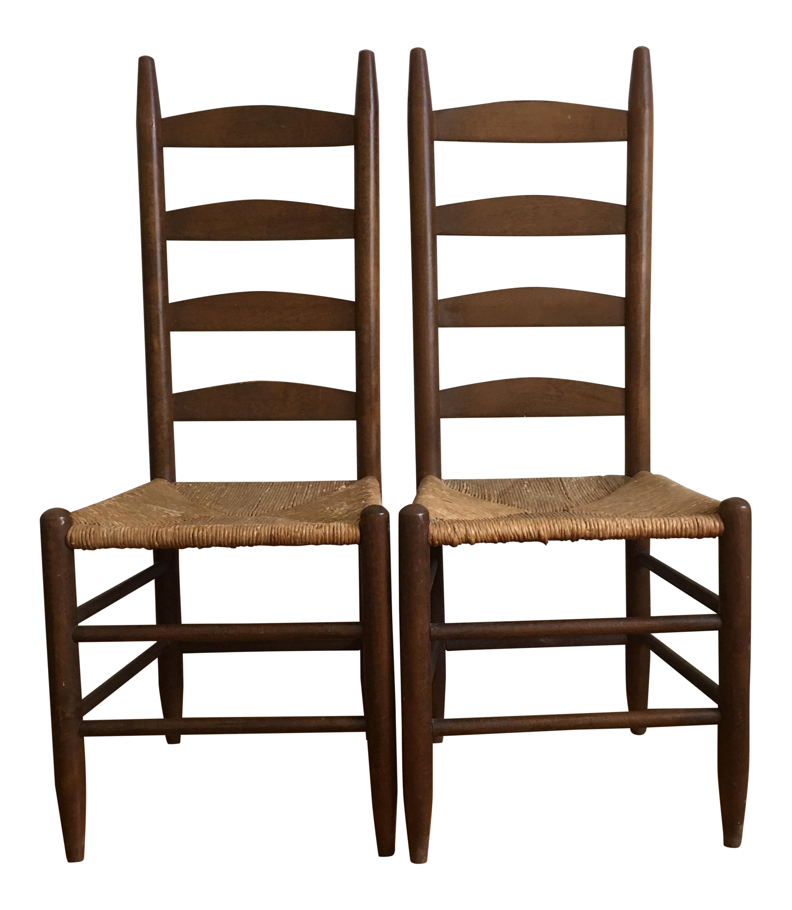 Vintage Rush Seat U0026 Ladder Back Chairs   A Pair Awesome Ideas