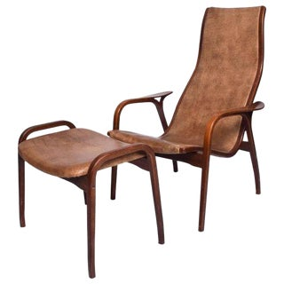 Swedese by Yngve Ekstrom Lamino Chair & Ottoman