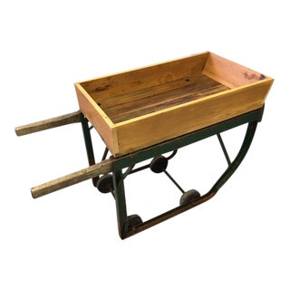 Barrel Cart Converted to Multi-Purpose Table