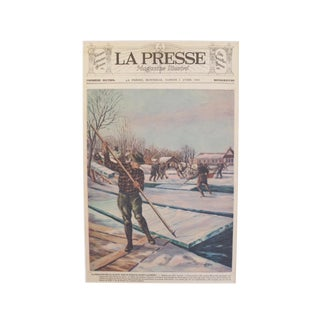 Original 1932 Montreal Ice Harvest on the St. Laurence Print