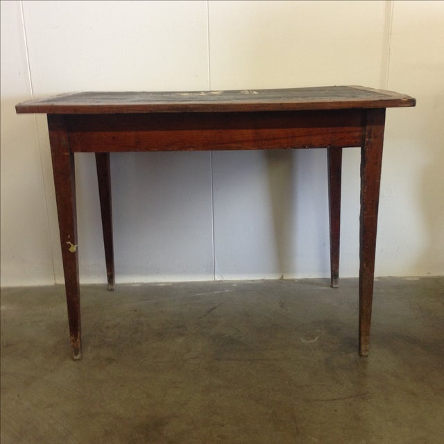 French Vintage Desk With Drawer - Image 6 of 10
