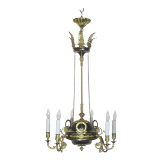 Black and Bronze Dore French Empire style chandelier