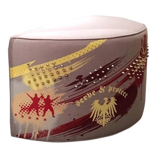 Crescent Shaped Spiked Pouf
