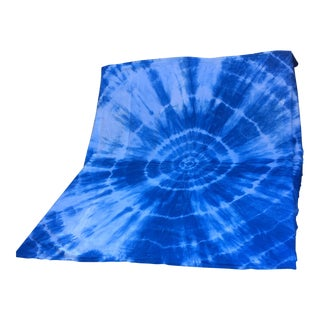 Hand Dyed Indigo Shibori Cotton Blanket