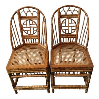 Vintage Brighton Chinese Chippendale Chairs - A Pair