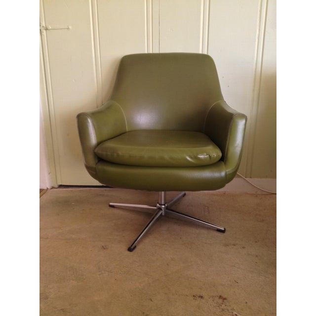 mid century modern swivel arm chair chairish. Black Bedroom Furniture Sets. Home Design Ideas