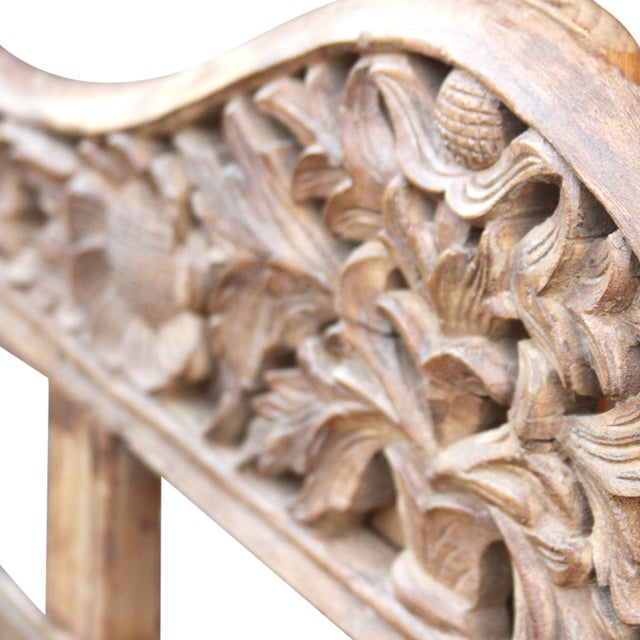 Carved Anglo India Settee - Image 5 of 5