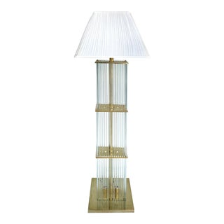 Gaetano Sciolari Glass Rod Floor Lamp
