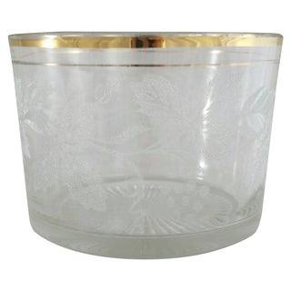 Mid-Century Ice Bucket With Gold Rim