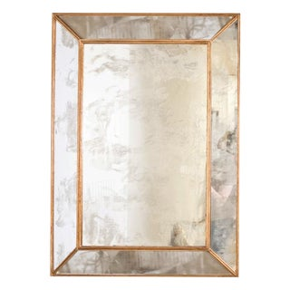 Worlds Away Dion Gold Leaf Antique Mirror