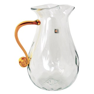 Blenko Pillowed Glass Sangria Pitcher