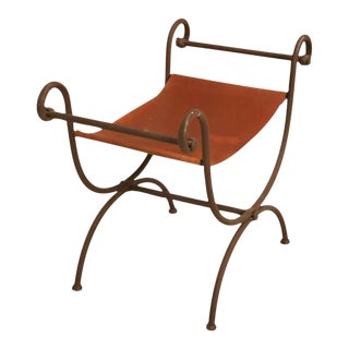 Hand-Forged Iron Vanity Bench