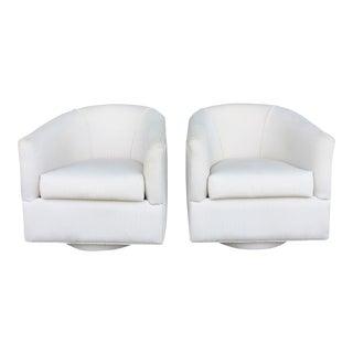 Mid-Century Swivel Chairs - Pair
