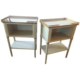 Paint Decorated End Tables - Pair