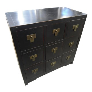 Asian 9-Drawer Chest of Drawers