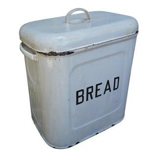 1920s Vintage Enamel Bread Bin