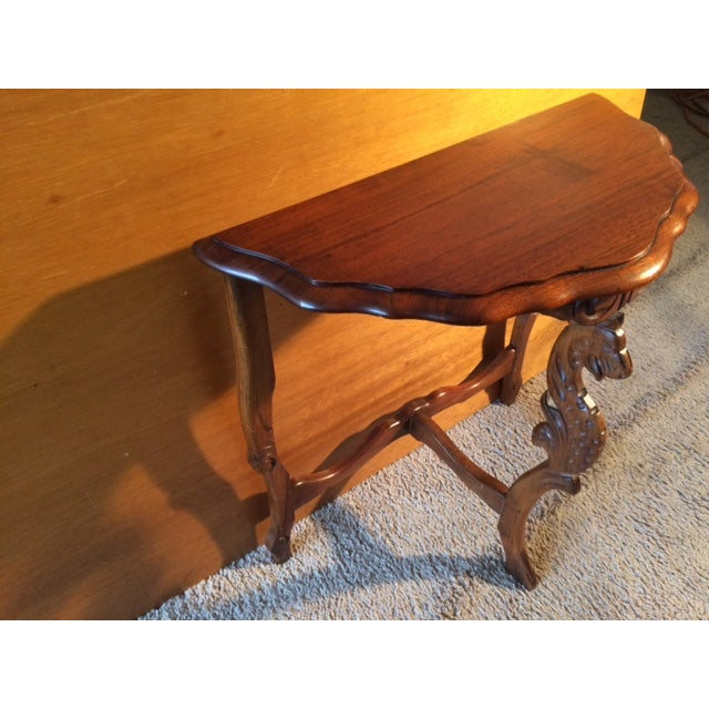 Victorian Carved Leg End Table - Image 2 of 5