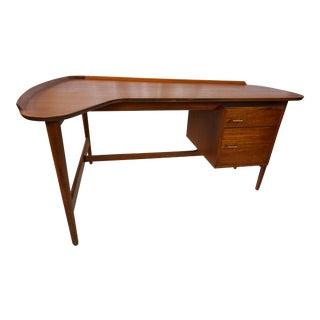 Arne Vodder Danish Modern Boomerang Teak Desk