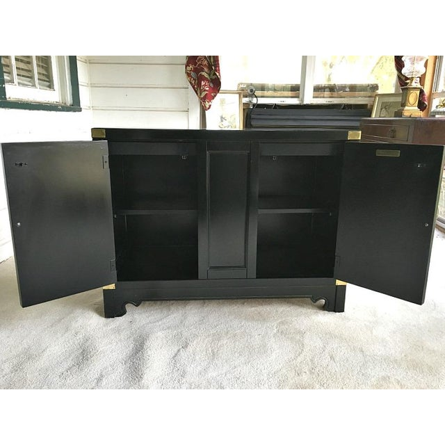 Image of American of Martinsville Asian Style Black Lacquered Buffet
