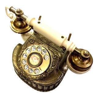 Vintage Baroque Bronze Rotary Telephone