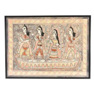 Vintage Ramayana Madhubani Painting