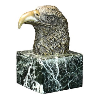 Cast Bronze Eagle's Head Sculpture