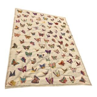 Handmade Butterfly Kilim Rug - 6′9″ × 9′10″